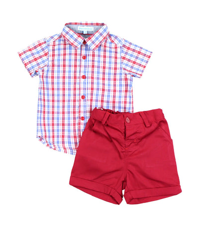 periwinkle red sebasteon h19 infant set