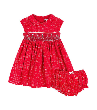 periwinkle red erin h19 infant dress