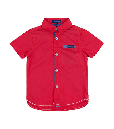periwinkle red coby h19 short-sleeved polo