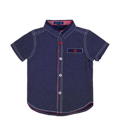 periwinkle navy camilo h19 short-sleeved polo