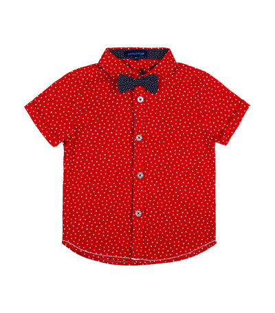 periwinkle red calvin h19 short-sleeved polo