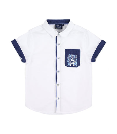 periwinkle white exton h19 short-sleeved polo