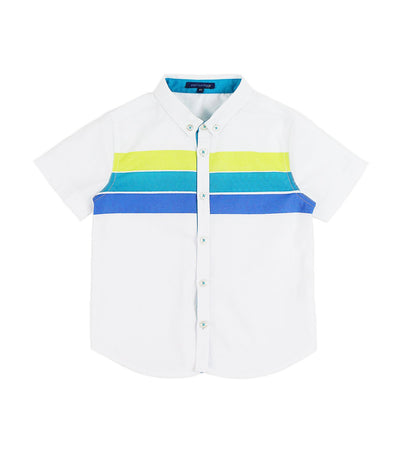 periwinkle white eddard s20 short-sleeved polo