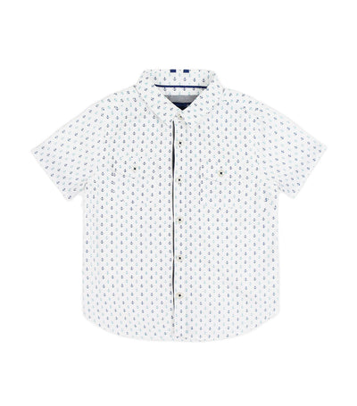 periwinkle white franco s20 short-sleeved polo