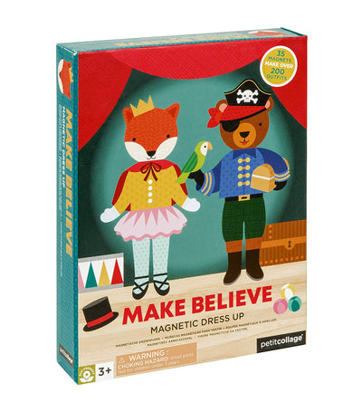 petit collage make believe magnetic dress-up