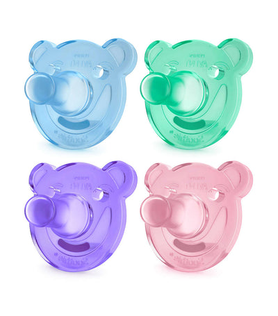 philips avent soothie shapes pacifier 3m+ (pack of 2) - assorted