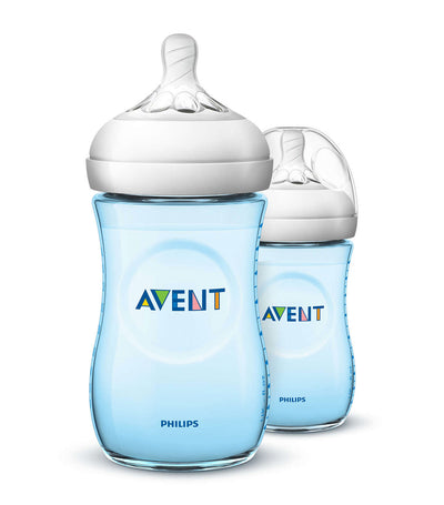 philips avent blue natural baby bottle 9oz (twin pack)