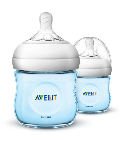 philips avent blue natural baby bottle 4oz (twin pack)