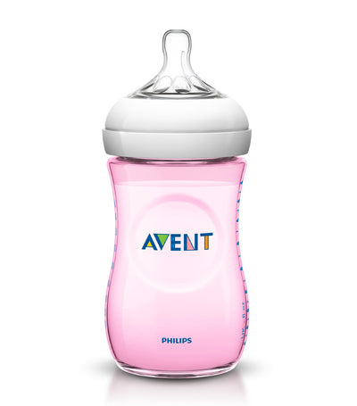 philips avent pink natural baby bottle 9oz