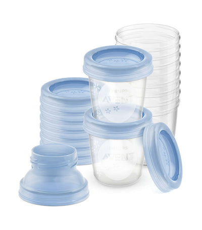 philips avent breastmilk storage cups