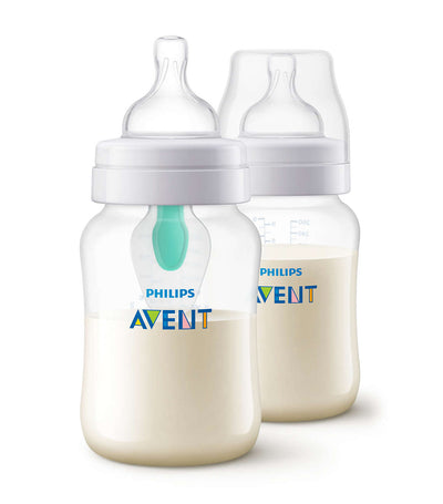 philips avent anti-colic with airfree vent bottle 9oz (twin pack)