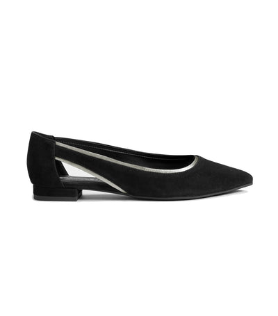 aerosoles photo finish flats black suede