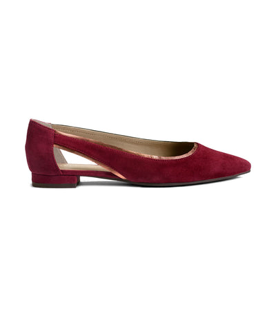 aerosoles photo finish flats wine suede