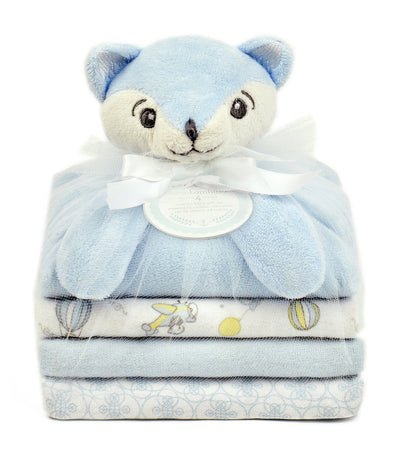piccolo bambino blue cuddly pal and 3 blankets