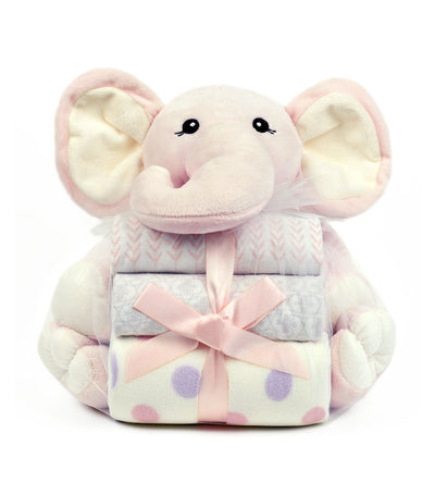 piccolo bambino baby first blanket and toy elephant