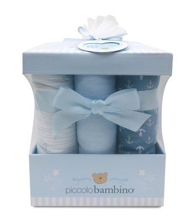 piccolo bambino 6-piece flannel receiving blanket box set