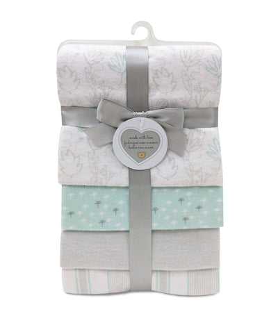 piccolo bambino gray flannel receiving blanket