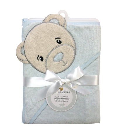 piccolo bambino blue hooded bath towel