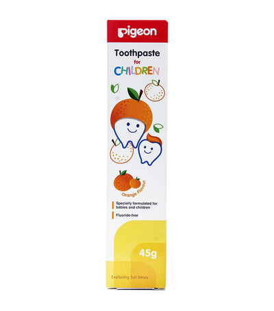 pigeon toothpaste orange
