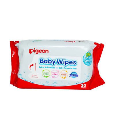 pigeon baby wipes water base refill (30 sheets)