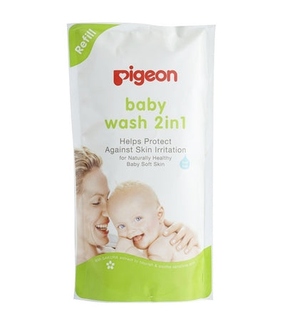 pigeon baby wash 2in1 sakura refill 900 ml