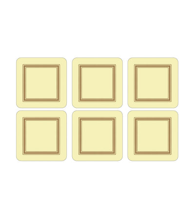 pimpernel classic coasters set of 6 - cream