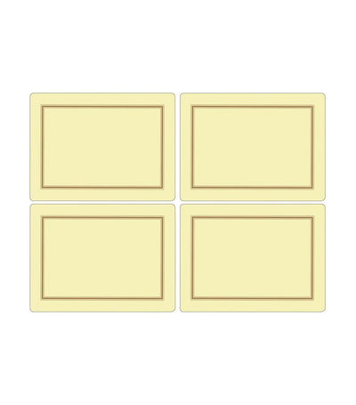 pimpernel classic placemat set of 4 (large) - cream