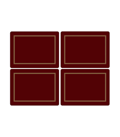 pimpernel classic placemat set of 4 (large) - burgundy