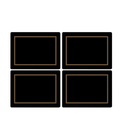 pimpernel classic placemat set of 4 black