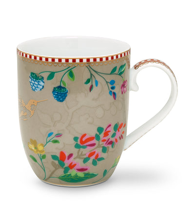 pip studio hummingbirds khaki small mug