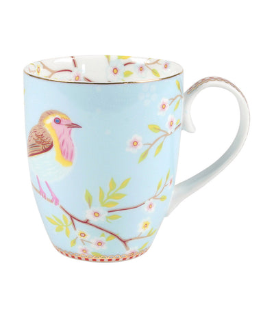 pip studio early bird blue large mug