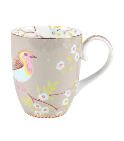 pip studio early bird khaki large mug