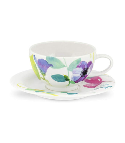 portmeirion water garden breakfast cup and saucer set of 4
