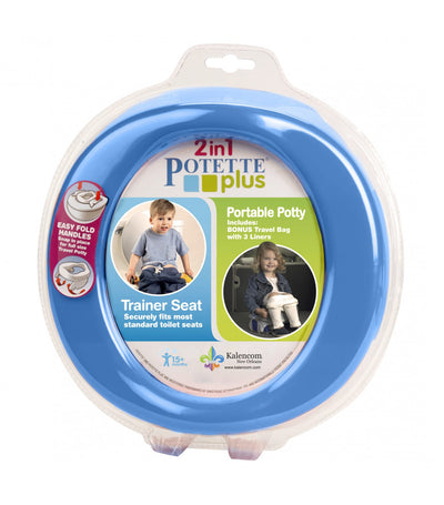 potette blue 2-in-1 potette plus portable potty
