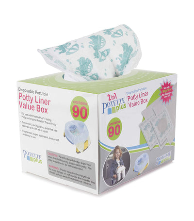 potette 2-in-1 potette plus disposable potty liners (pack of 90)