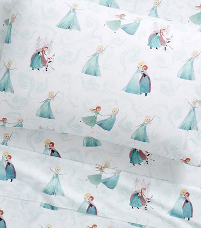 pottery barn kids disney frozen sheet set