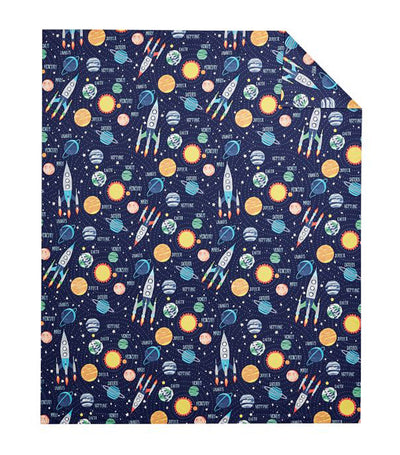 pottery barn kids solar system glow-in-the-dark duvet cover - twin