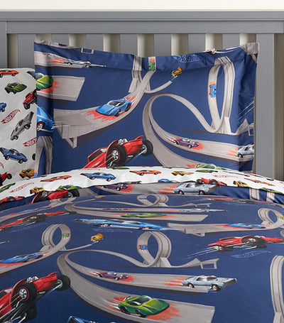 pottery barn kids hot wheels® duvet cover