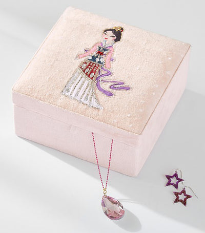 pottery barn kids disney princess jewelry box - mulan