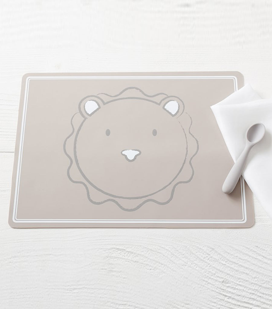 pottery barn kids silicone placemat - lion
