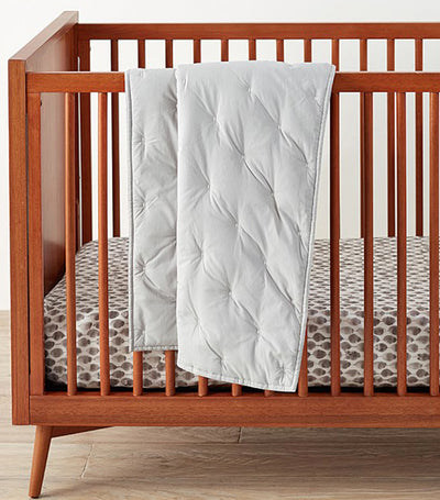 west elm x pbk platinum washed cotton toddler quilt
