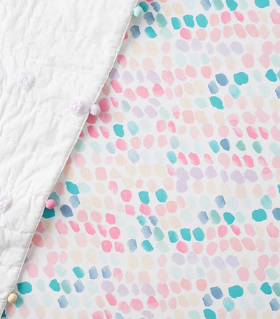 pottery barn kids organic brushstroke fitted crib sheet
