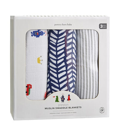 pottery barn kids preston swaddle set