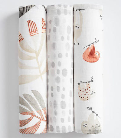 pottery barn kids sloth swaddle set