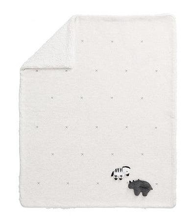 pottery barn kids ivory multi playtime sherpa animal baby blanket