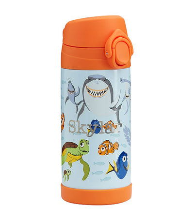 pottery barn kids mackenzie disney and pixar finding nemo glow-in-the-dark regular water bottle