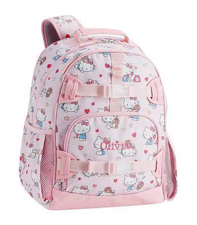 pottery barn kids mackenzie hello kitty hearts backpack large
