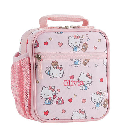 pottery barn kids mackenzie hello kitty hearts classic lunch bag