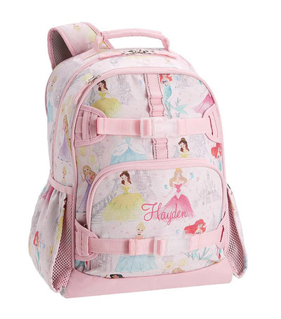 pottery barn kids mackenzie disney princess castle shimmer backpack