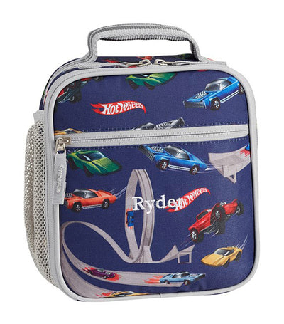 pottery barn kids mackenzie navy hot wheels classic lunch bag